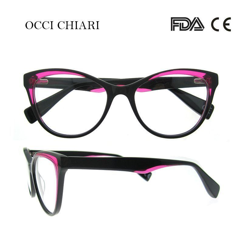 f6a76f8514b6 Oculos eyeglasses for women medical optical glasses frame oculos lunettes  gafas demi colour w-coro  frames  eyewear  accessories  women  acetate   patchwork