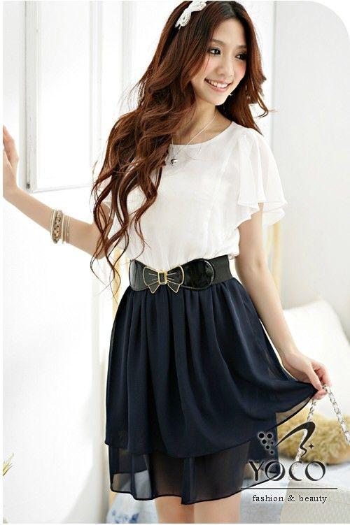 Wholesale Japanese Dress J1219 Darkblue Japanese Dress