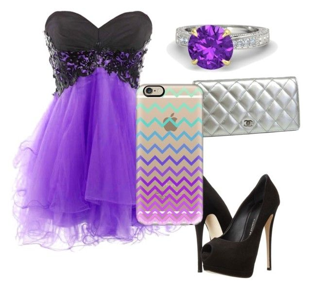 """Trendy Purple"" by shauntemallard88 on Polyvore featuring Giuseppe Zanotti, Gemvara, Chanel and Casetify"