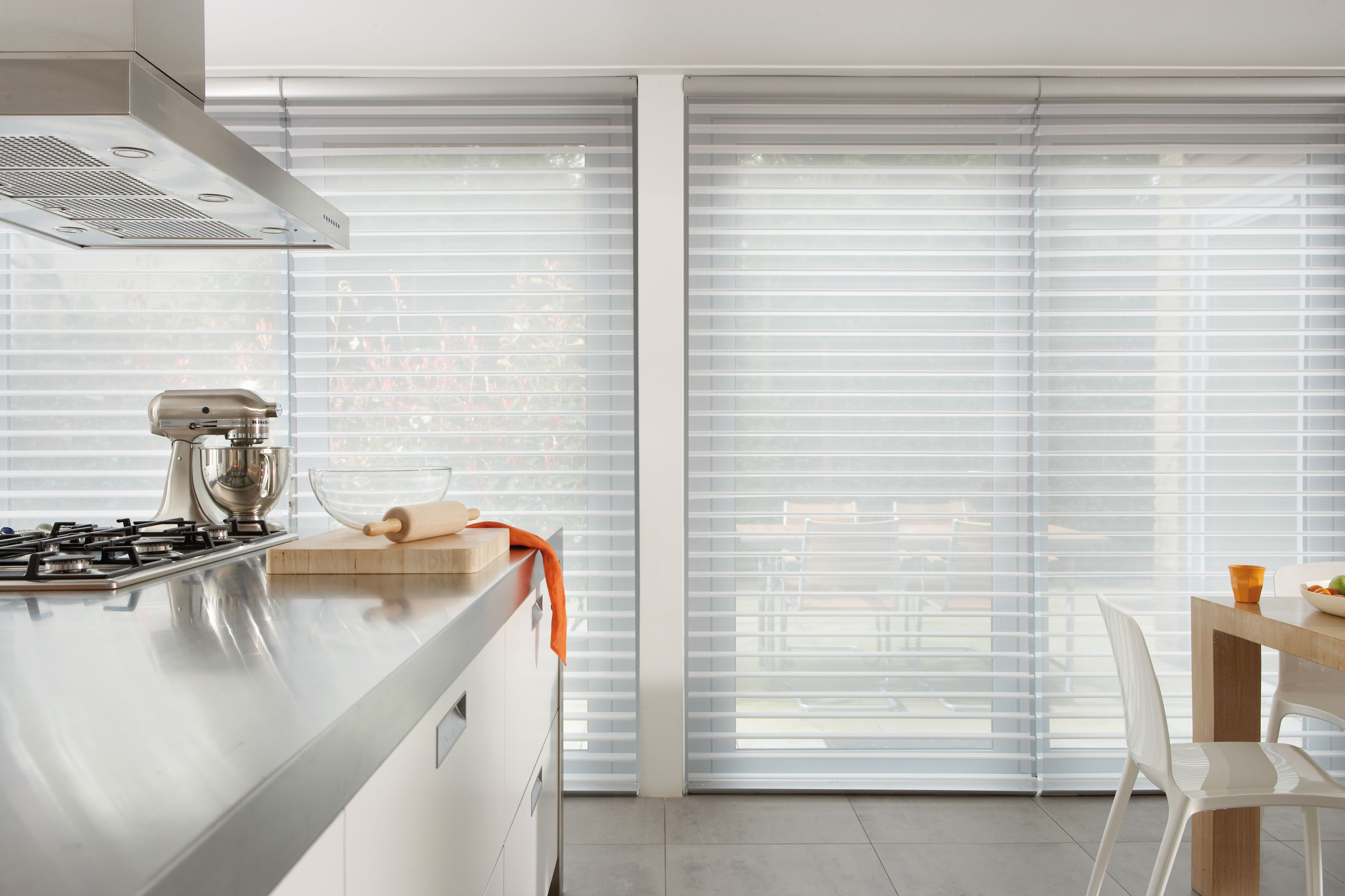 design window blinds hunter white silhouette decor comfortable shades dining for your interior fabric captivating douglas room