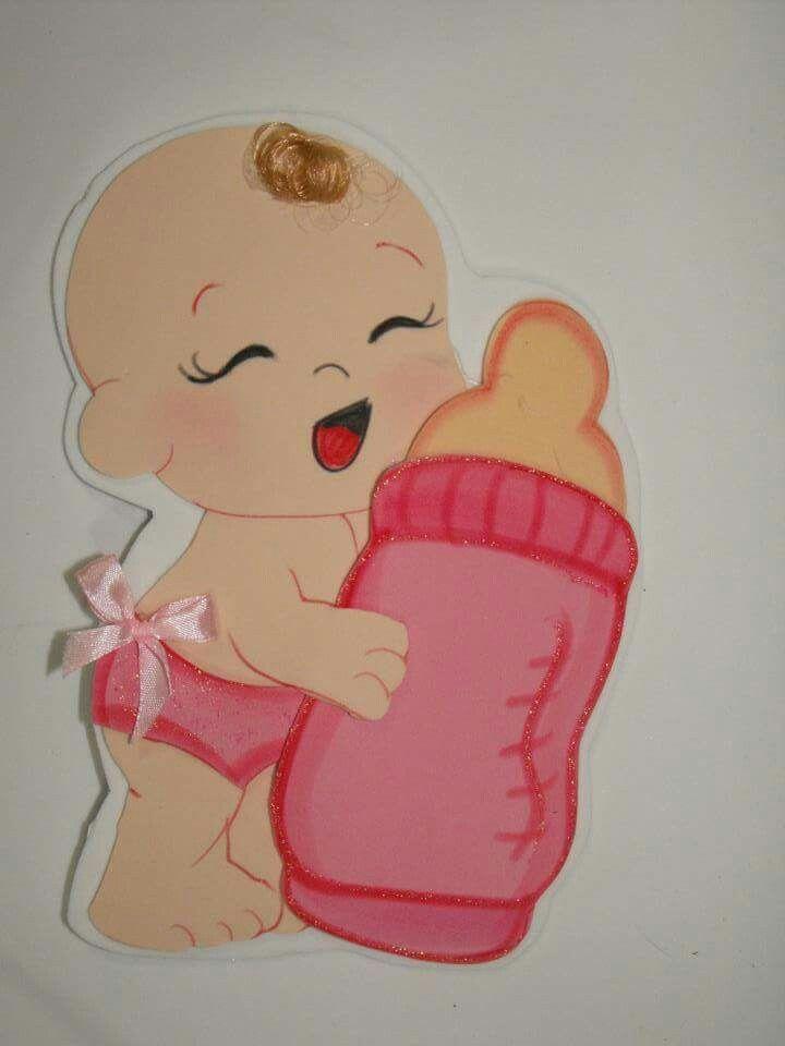Resultado de imagen para moldes bebita para baby shower en for Manualidades decoracion bebe