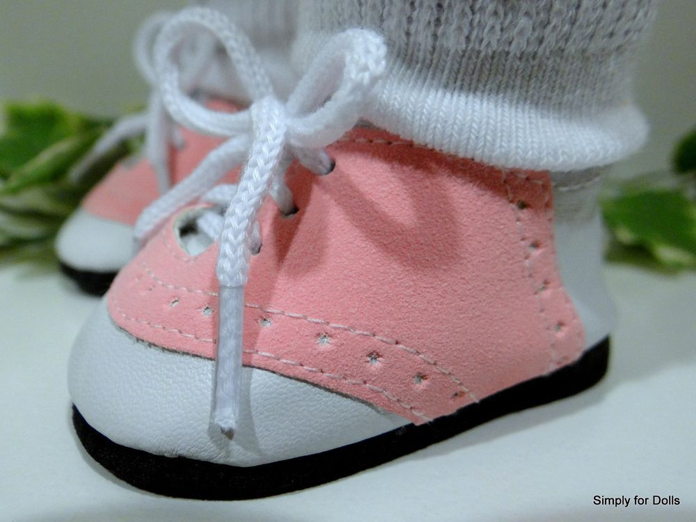 """**SALE** PINK /& GRAY Saddle Oxfords DOLL SHOES fits 18/"""" AMERICAN GIRL Doll"""