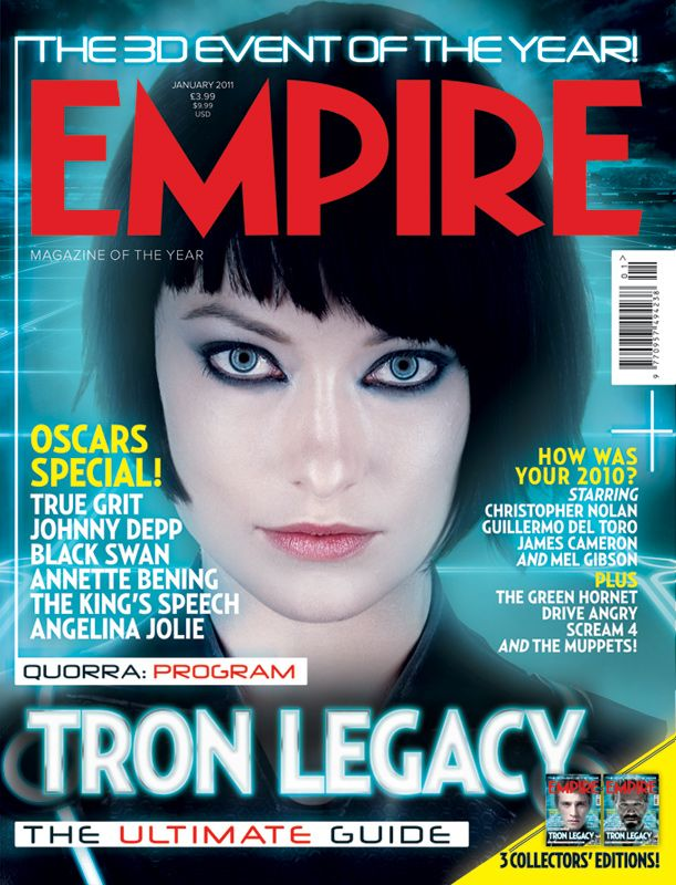 Tron Legacy - Empire Magazine Cover Olivia Wilde   Magazine Covers ...