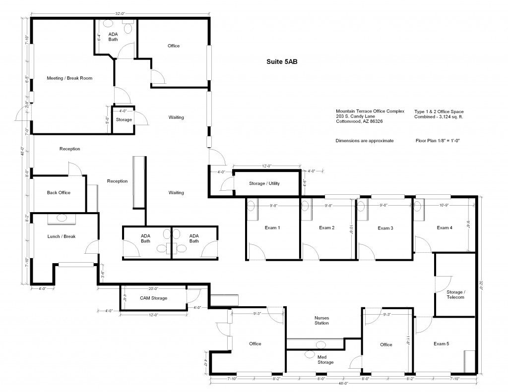Contemporary Office Space Floor Plan Plans Is Available For Rent