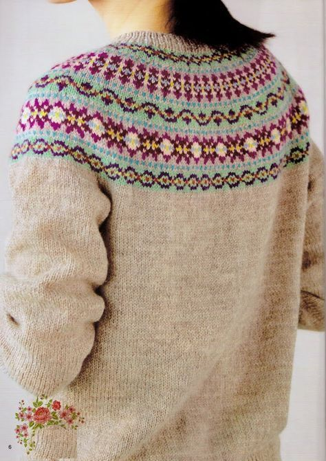 Kofta/genser -norwegian-knitting-fair-isles   Rundfelling ...