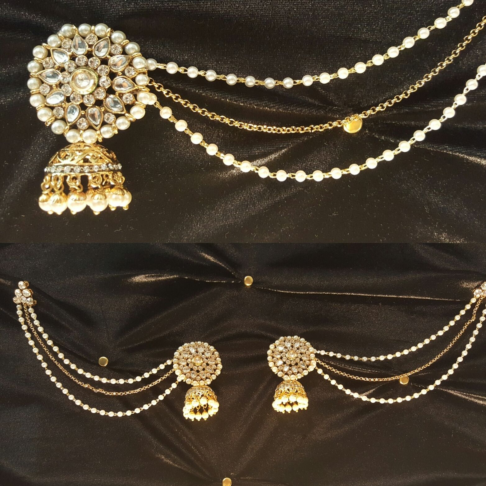 Earring set | Real pearls, Chains and Pearls