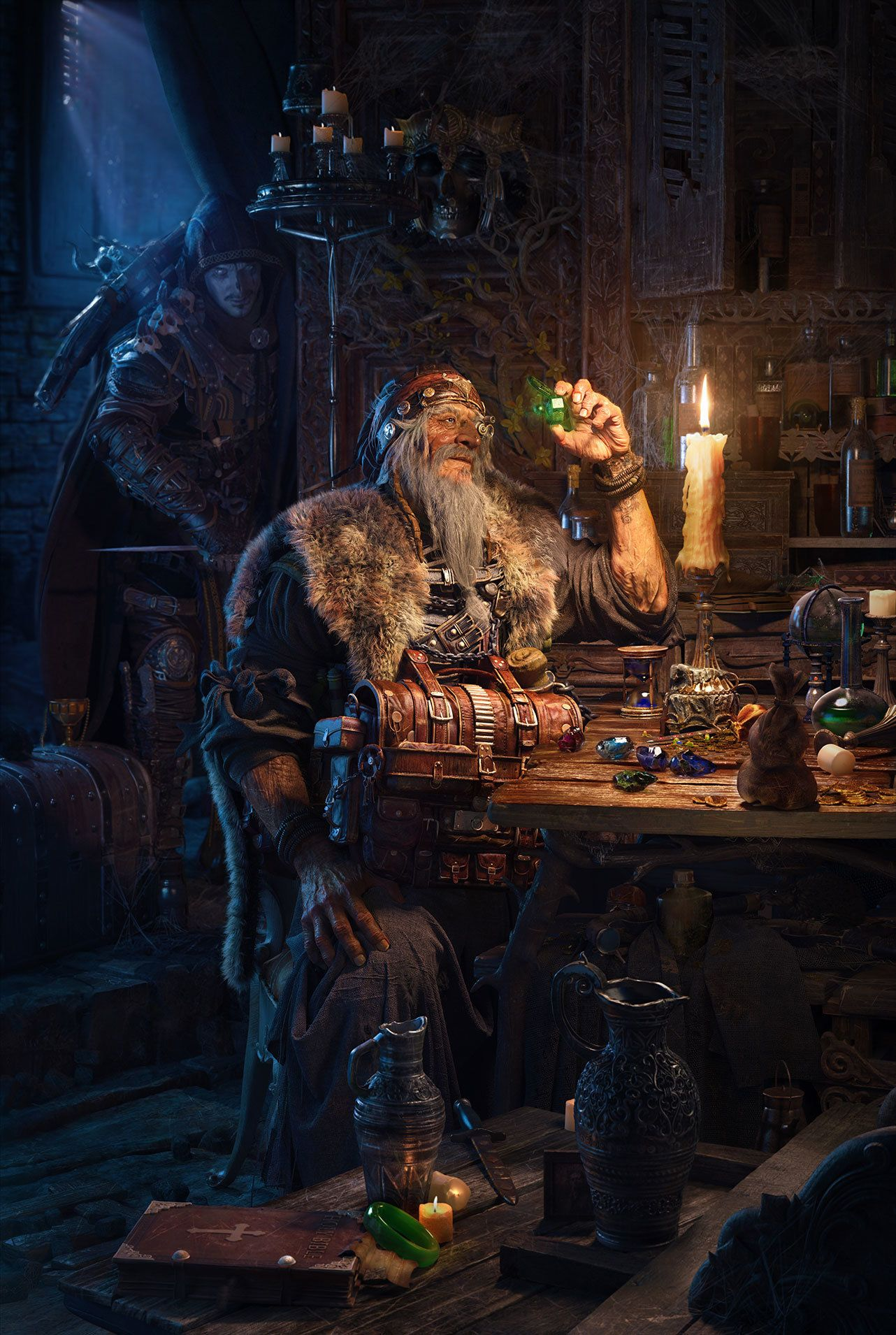ArtStation - Orphan and the jeweler, yao linger