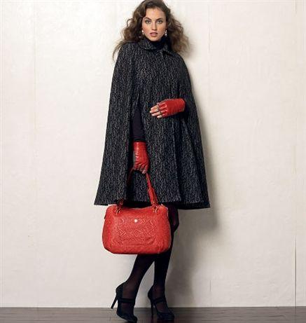 Patron Vogue 8959 Veste Cape femme au col à revers rond
