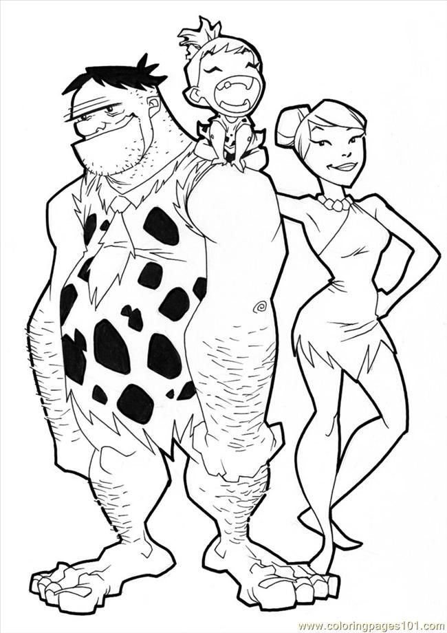 fred flintstone coloring pages