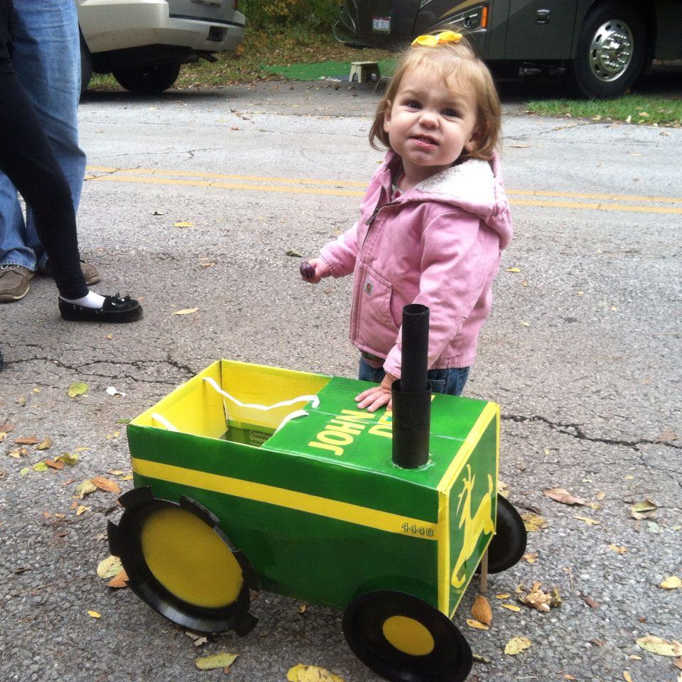 brynn's halloween costume 2014 :) her john deere tractor that she