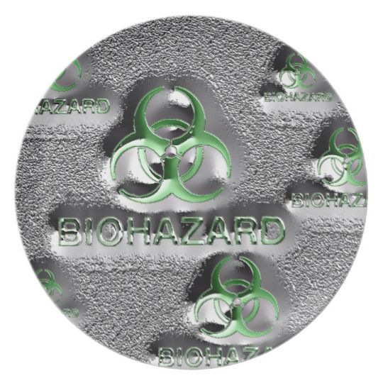 Biohazard fallout contamination sign toxic green melamine plate   Kitchen stuff Dining sets and Dishwashers  sc 1 st  Pinterest & Biohazard fallout contamination sign toxic green melamine plate ...