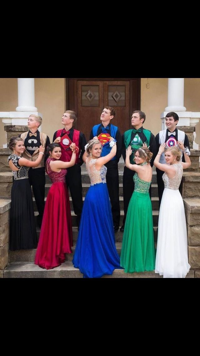 Superheroes prom picture                                                        …