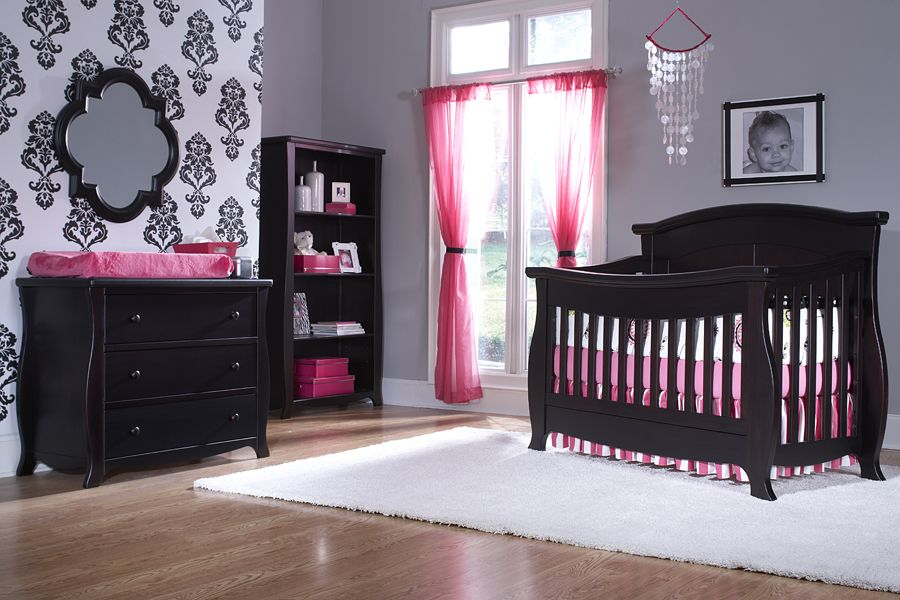 Nursery Baby Girl Nursery Pink Grey Baby Furniture