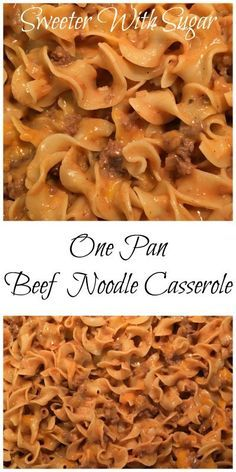 One Pan Beef Noodle Casserole images