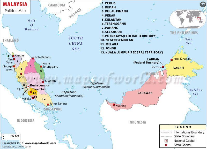 Carte des Malaisie Carte du Monde Pinterest Malaysia