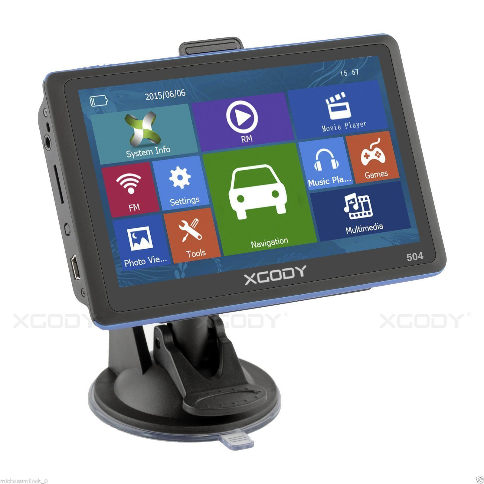 Xgody 5 Inch Sat Nav Lifetime Free Update Car Truck Gps Navigation