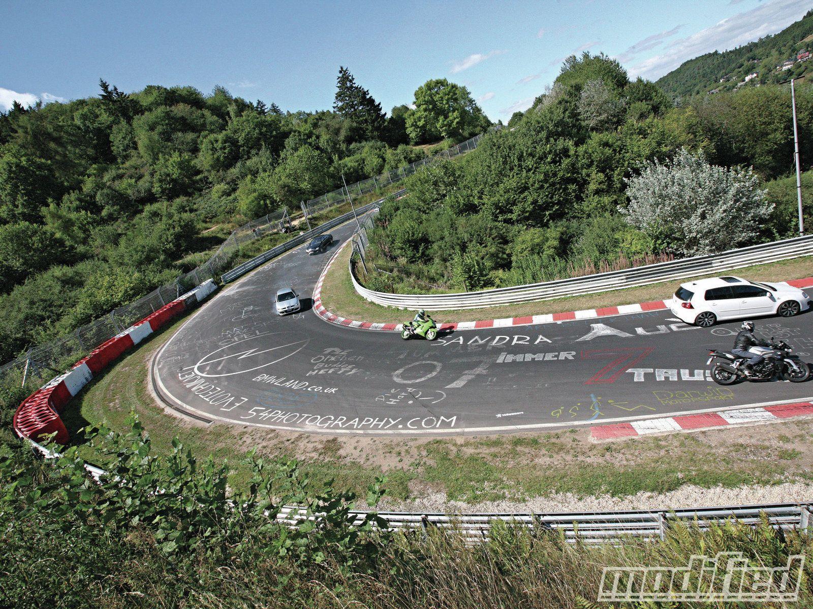 Race Track Corner Nurburgring Race Track Track Racing