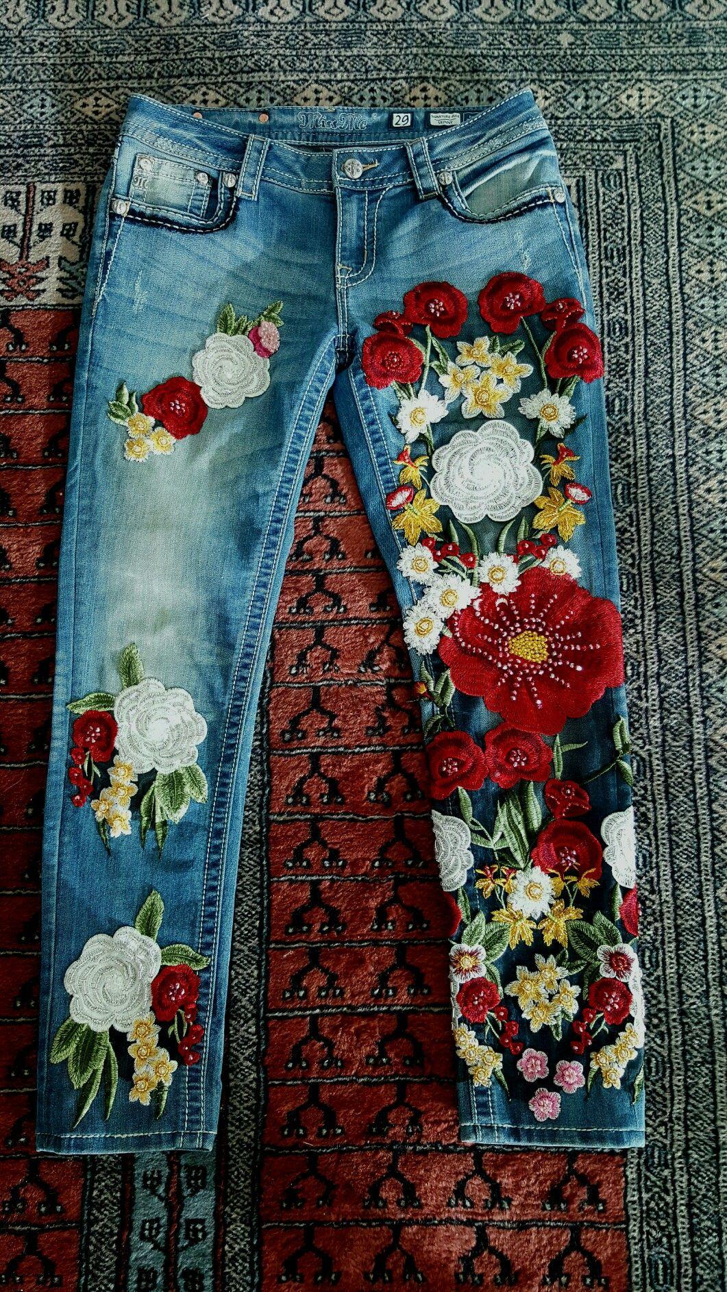 fb19ea050375 Barranquilla | Looks I Love | Jeans con bordados, Pantalon bordado y ...