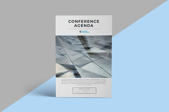 Conference agenda/brochure by 314Co on @creativemarket Design