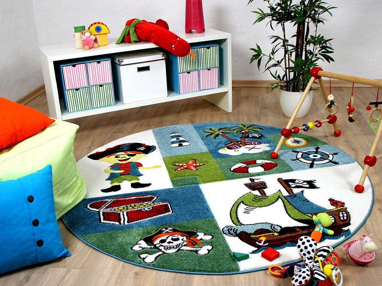 Memoboard Kinderzimmer ~ Kinder teppich maui kids pirat rund kinderzimmer pinterest