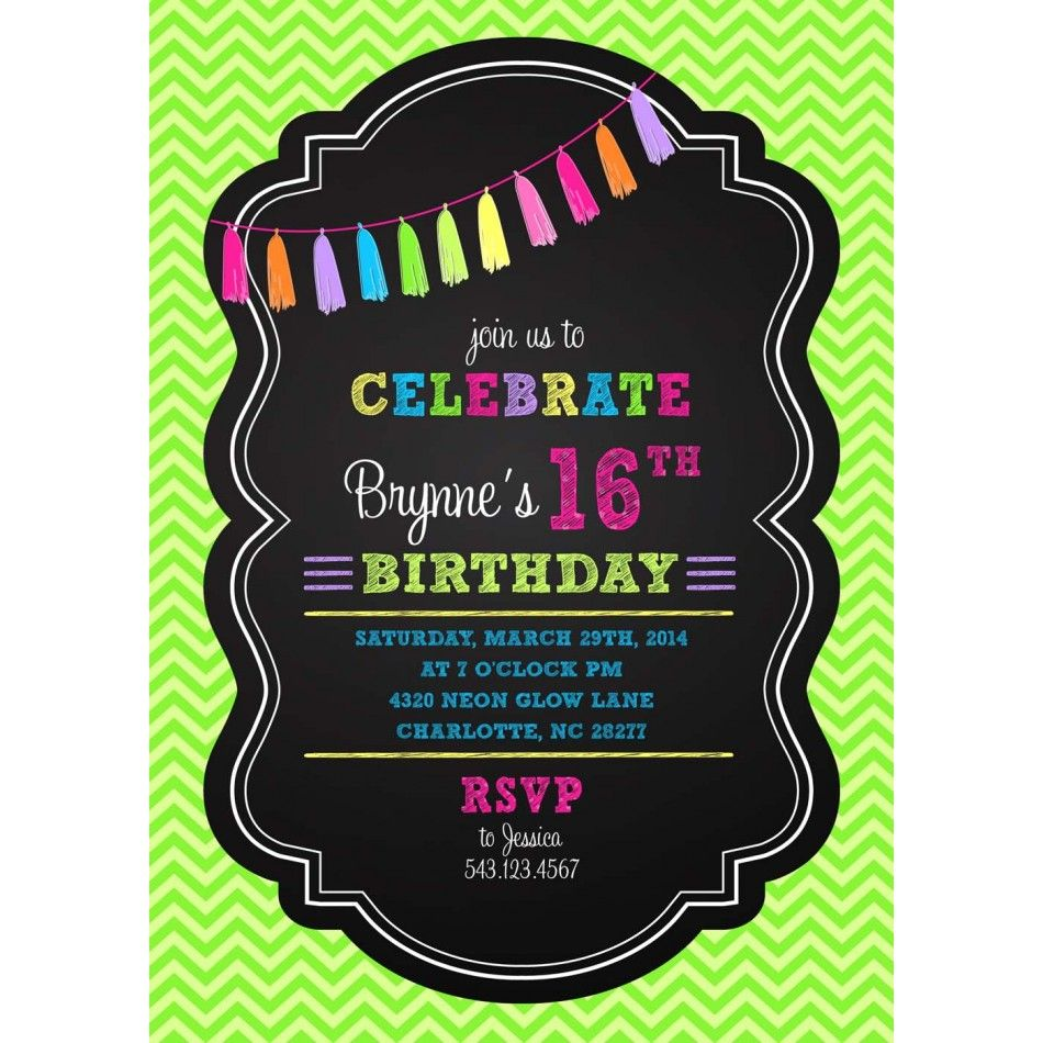 glow party invitations - Google Search | Party Time | Pinterest ...