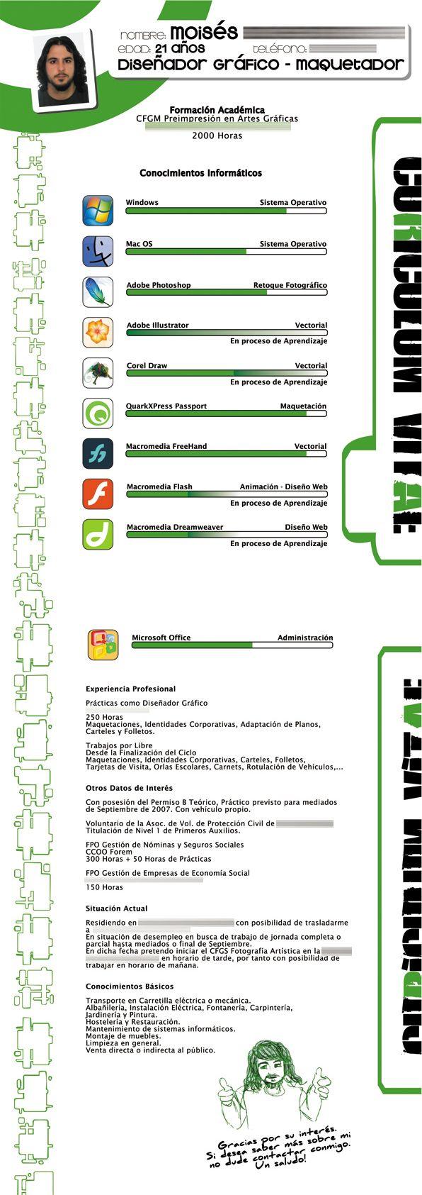Uito2, Curriculum Vitae | CV & business cards | Pinterest | Ejemplos ...