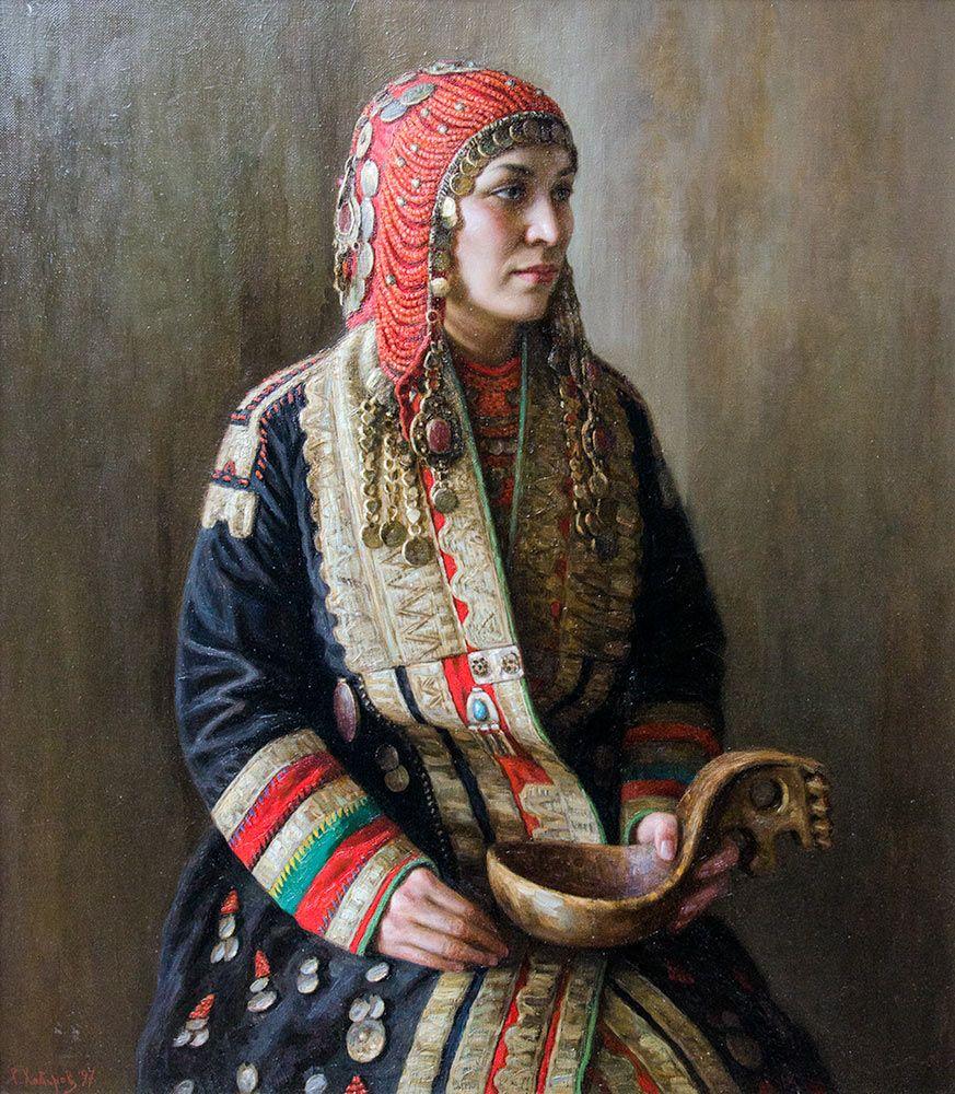 Башкирский национальный костюм | Средневековая одежда ...