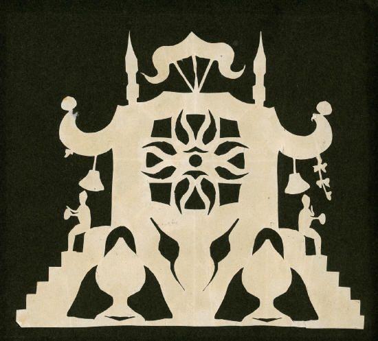 H.C. Andersen papirklip, tegning udført på herregården Basnæs ved Skælskør