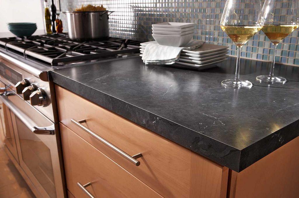 Black Alicante 4926 Wilsonart Premium Laminate Kitchen Shot