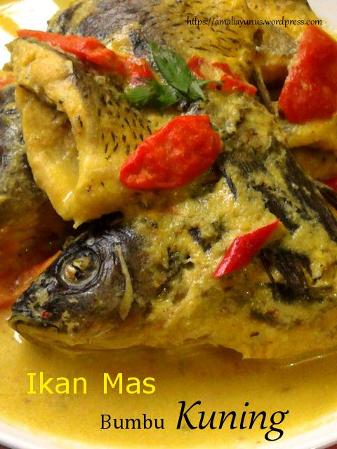 Resep Gulai Ikan Mas Bumbu Kuning, Masakan Berkuah Sedap