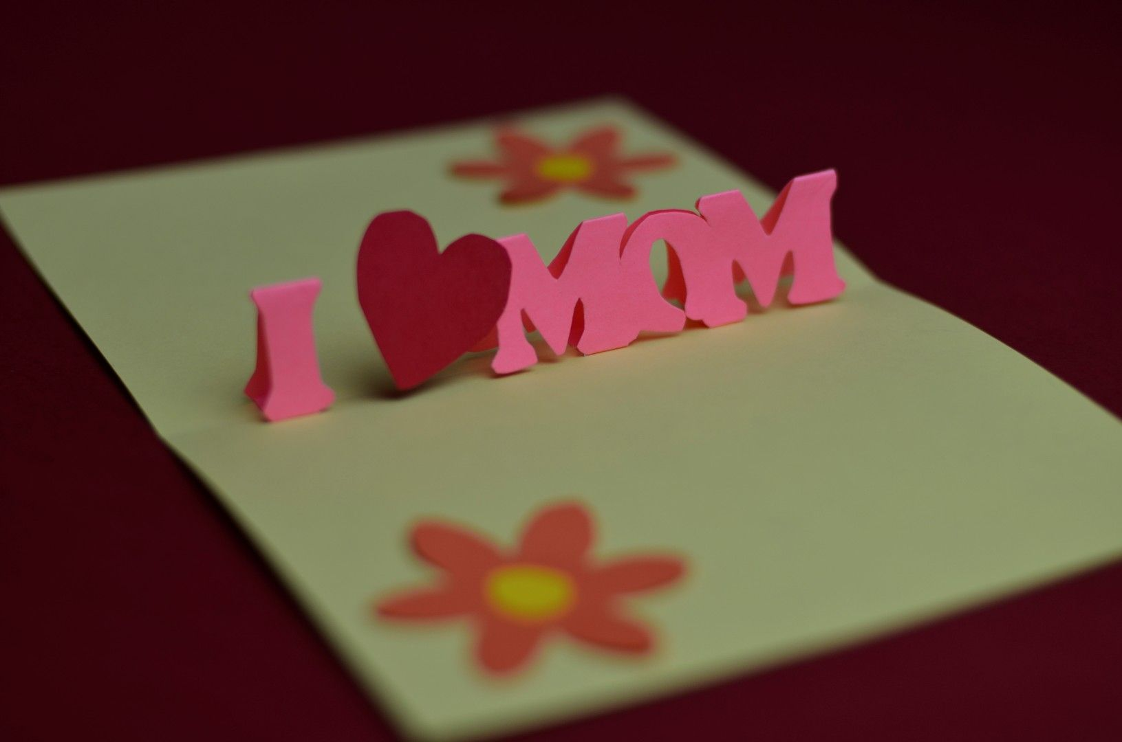 Simple Mother S Day Pop Up Card Template Creative Pop Up Cards In 3d Heart Pop Up Card Templat Pop Up Card Templates Heart Pop Up Card Pop Up Valentine Cards