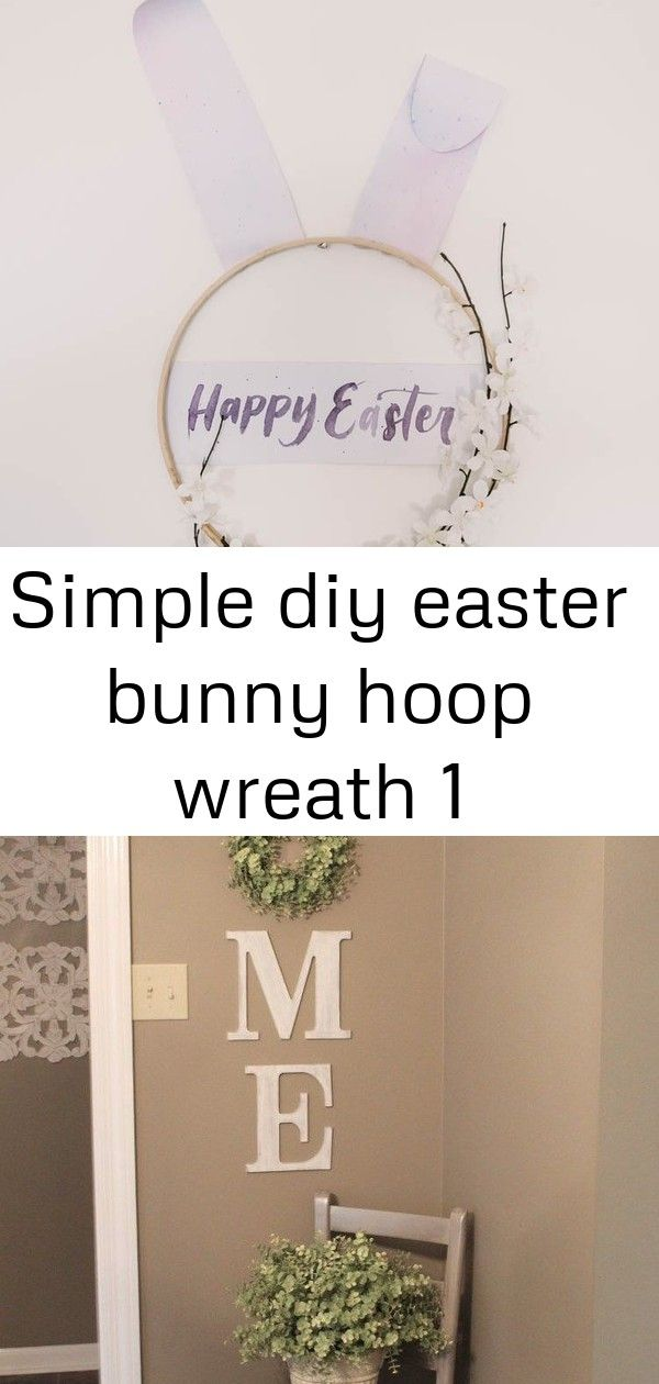 Simple diy easter bunny hoop wreath 1 Modern DIY Easter Wreath love this easter bunny hoop wreath Legende DIY HOME WREATH WALL DECOR Gold light fixtures for our office up...