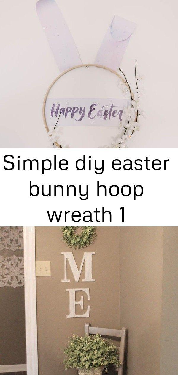 Simple diy easter bunny hoop wreath 1 Modern DIY Easter Wreath love this easter bunny hoop wreath Legende DIY HOME WREATH WALL DECOR Gold light fixtures for our office up...