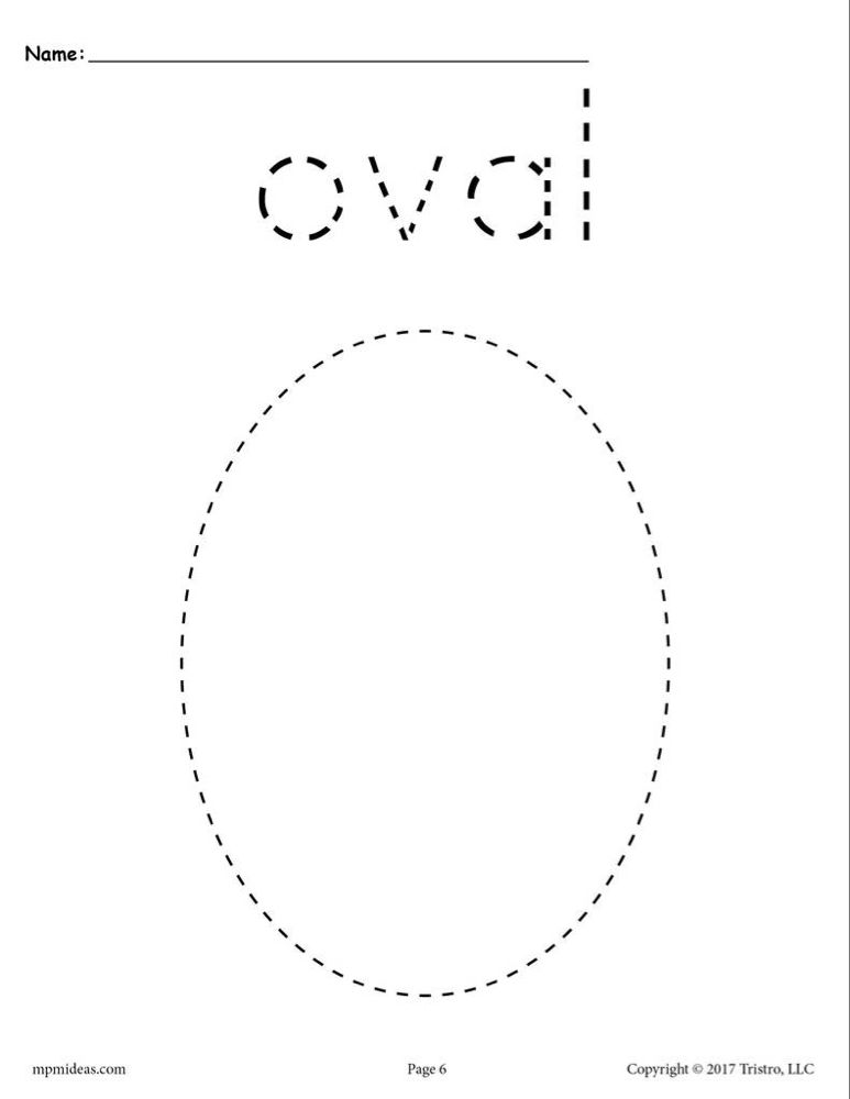 Oval Tracing Worksheet Shape Tracing Worksheets Shapes Worksheets Shape Worksheets For Preschool Tracing shapes worksheets for