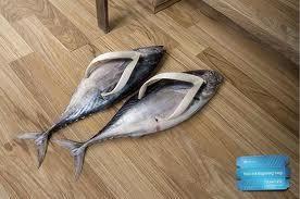 chanclas de pescado
