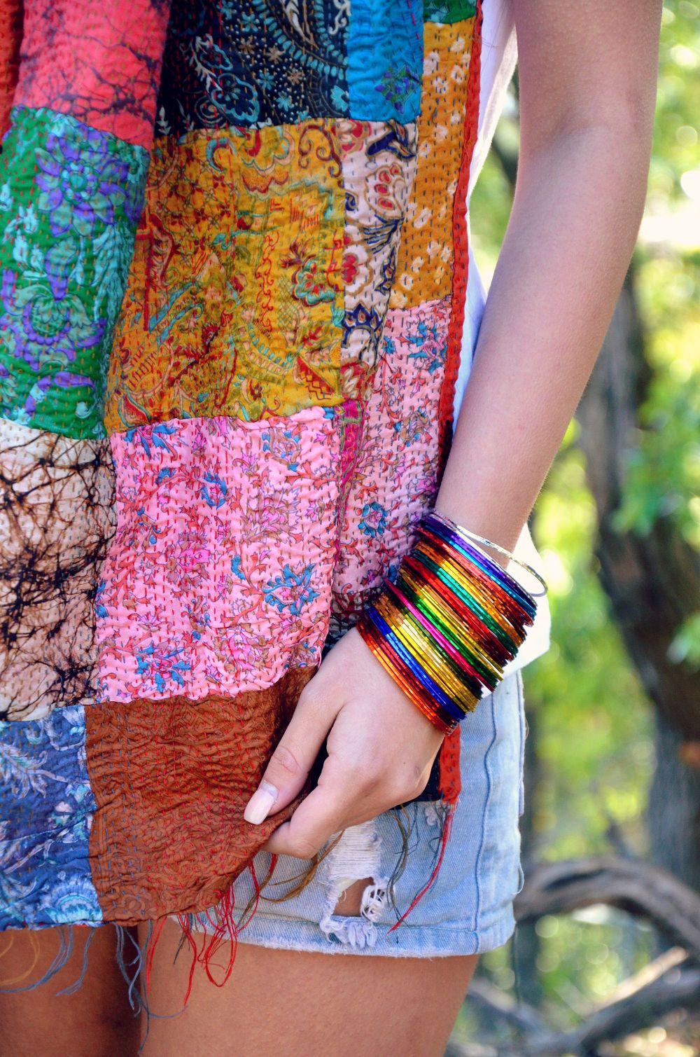 Silk kantha scarf by Lilac Skin www.lilacskin.com.au