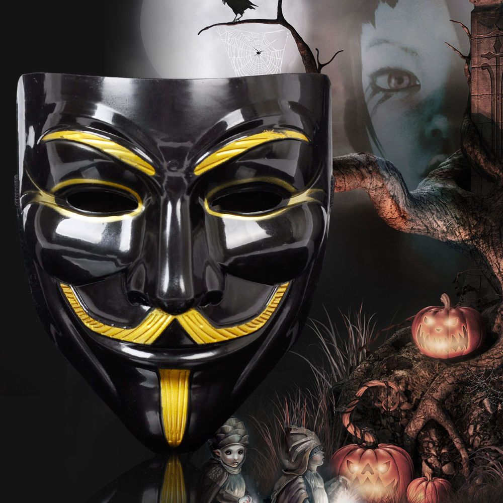 Halloween Anonymous Costume Cosplay Guy Fawkes V for Vendetta Mask