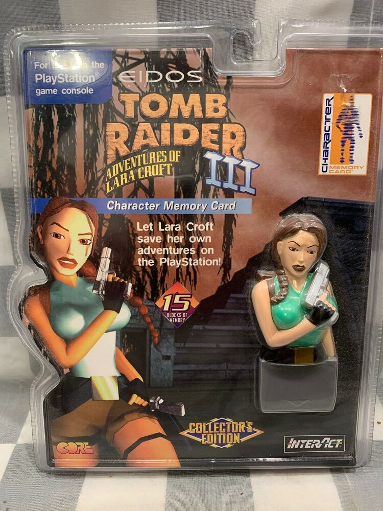 Eidos Tomb Raider Iii Lara Croft Playstation Memory Card New 1998