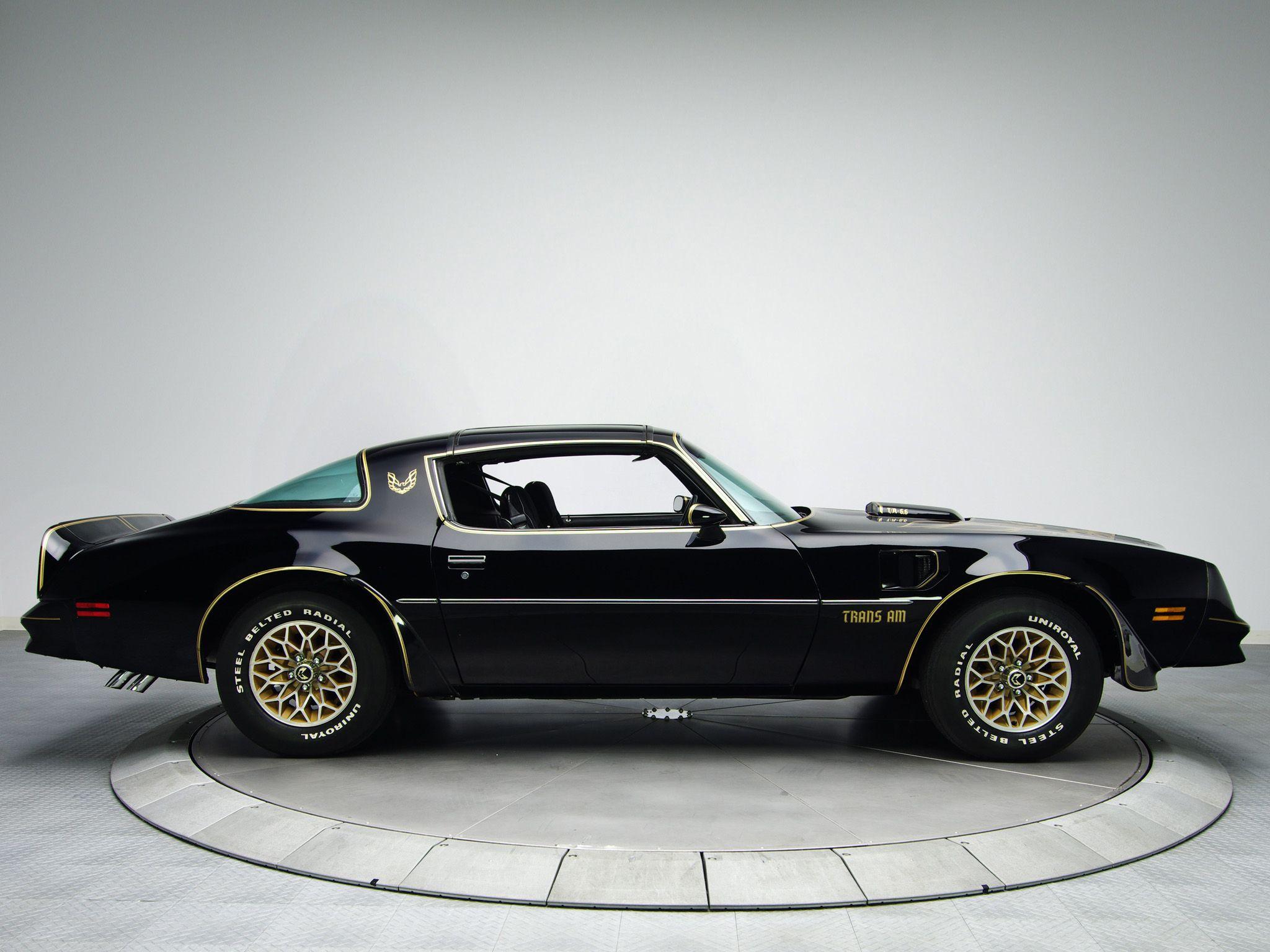 1978 pontiac trans am black s e special edition black paint with gold