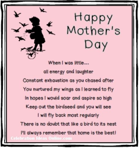 The Best Mother Day Quotes: #mothersday Poem And Gift Ideas.. You Make A Birdhouse To
