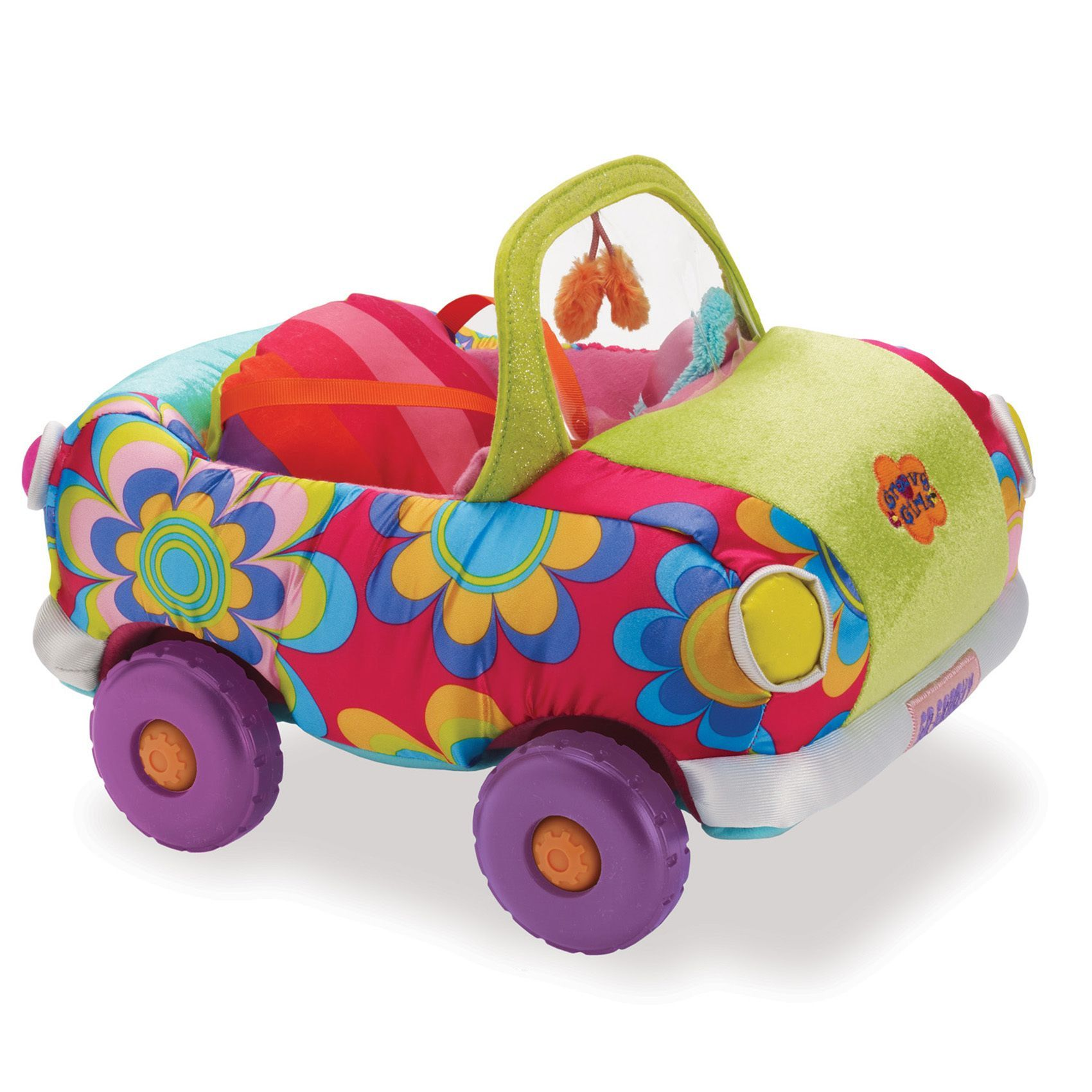 Toys car for baby  Manhattan Toy Groovy Girls Wheelinu In Style color Fabric Plush Toy