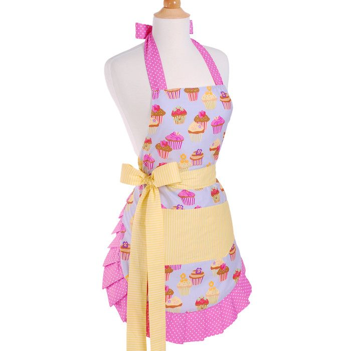 You'll love the Women's Apron in Frosted Cupcake at Wayfair - Great Deals on all Kitchen & Dining  products with Free Shipping on most stuff, even the big stuff.