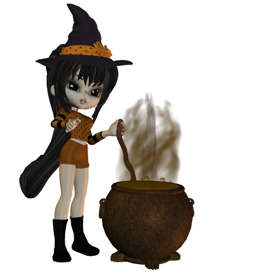 Special Halloween Tubes Poser Cookie gratuits Free
