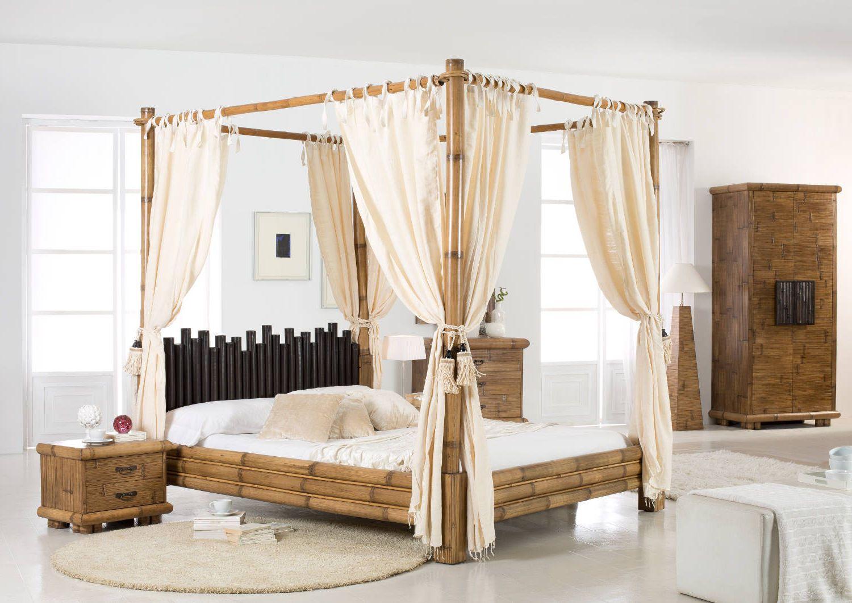 asiatisches himmelbett bambus cabana honigantik das exotische himmelbett in natur exkusives. Black Bedroom Furniture Sets. Home Design Ideas