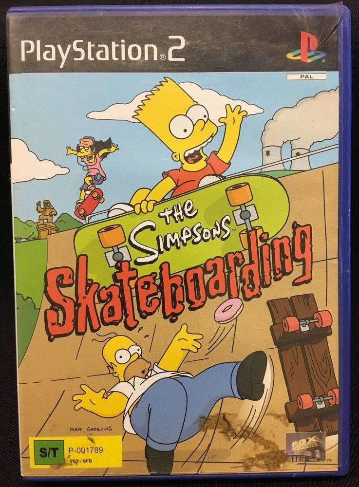 PS2 Playstation Game The Simpsons Skateboarding PAL The