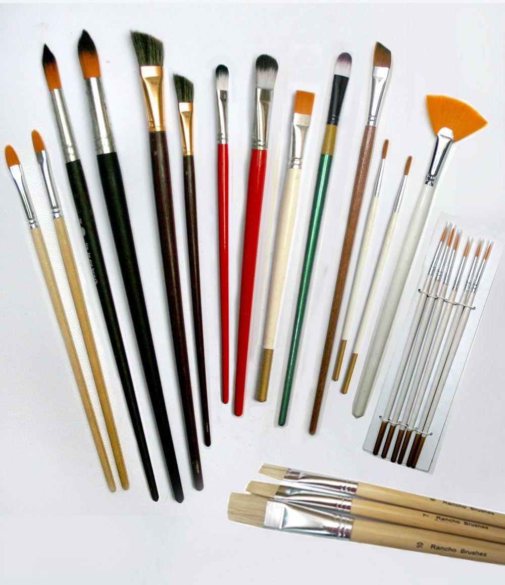 Pinceles para pintar al oleo materiales para pintar al - Materiales de pintura de pared ...