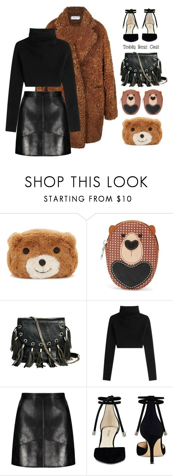 """Teddy bear coats"" by miee0105 ❤ liked on Polyvore featuring Forever 21, Relic, GUESS by Marciano, Valentino and Nine West"