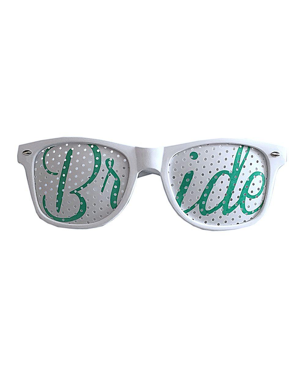 White & Green \'Bride\' Wedding Party Sunglasses   Wedding!, Green ...