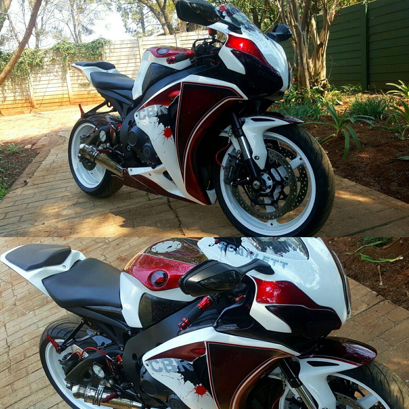 This cbr1000rr is my painters own bike his first solo custom project from design