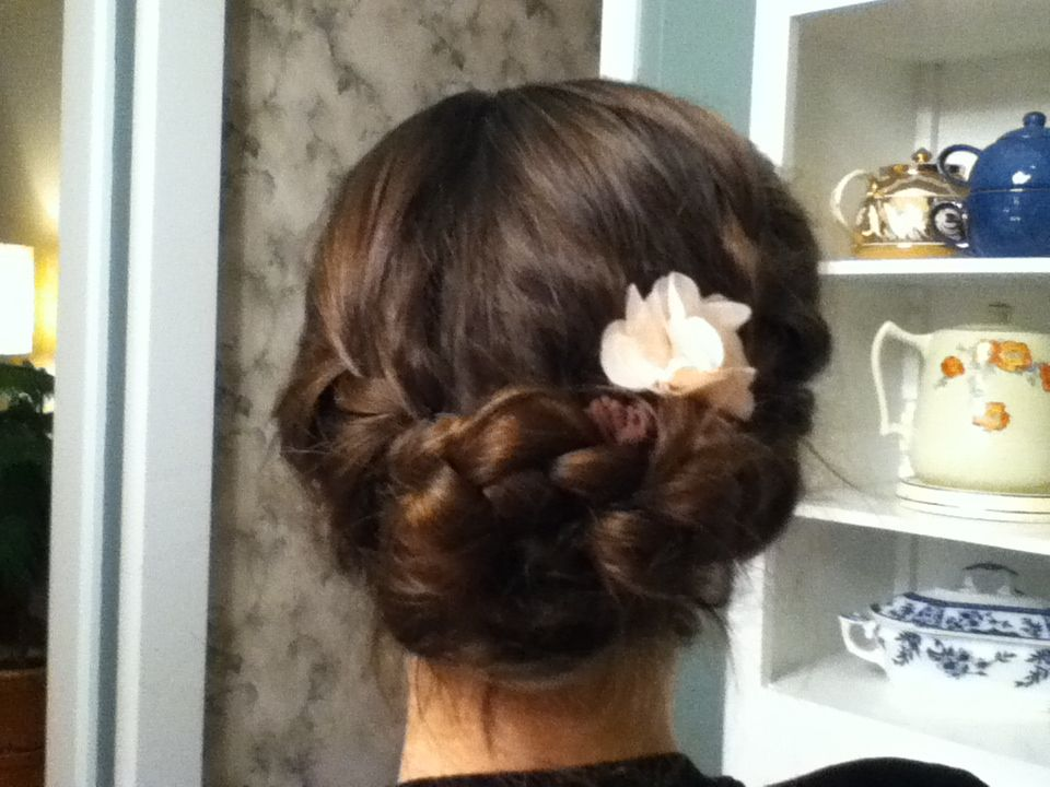 Me and Courtney did this to my sisters hair :)
